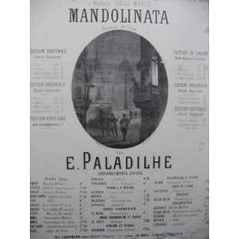 PALADILHE E. Mandolinata Piano 1869