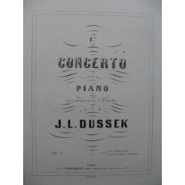 DUSSEK J. L. 1er Concerto Piano 1863