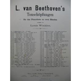 VAN BEETHOVEN'S L. Symphonie No 3 Piano XIXe siècle