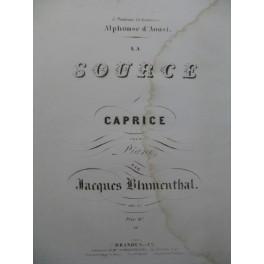 BLUMENTHAL Jacques La Source Piano ca1850