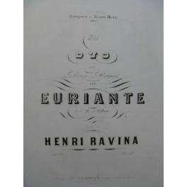 RAVINA Henri Grand Duo Weber 2 Pianos 4 mains ca1848