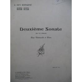 ROPARTZ Joseph Guy Deuxième Sonate Violoncelle Piano 1919