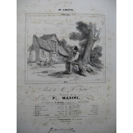 MASINI F. M'Amour Villanelle Chant Piano ca1830