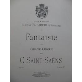 SAINT-SAËNS Camille Fantaisie op 101 Orgue 1896