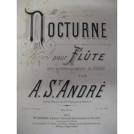 SAINT ANDRÉ A. Nocturne pour flute et piano