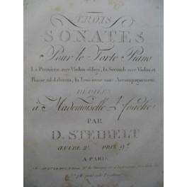 STEIBELT Daniel Trois Sonates op 2 Piano ca1800