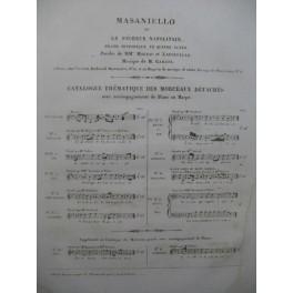 CARAFA Michele Masaniello Opera No 17 Chant Piano ca1845