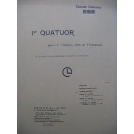 DEBUSSY Claude Quatuor No 1 Violon Alto Violoncelle 1950