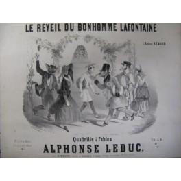 LEDUC Alphonse Le Réveil du Bonhomme Lafontaine ca1850