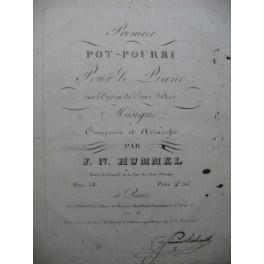 HUMMEL J. N. Pot-Pourri Piano 1820