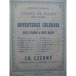 WEBER Obéron Ouverture 2 Pianos 8 mains 1848