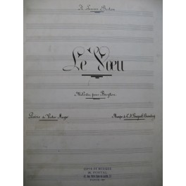 BOURGAULT-DUCOUDRAY L. A. Le Voeu Manuscrit Chant Piano