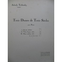 TREBINSKY Arkady Danse du XIXe No 2 Valse Caprice Piano 1927