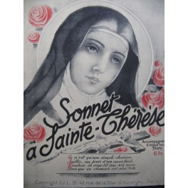 Sonnet à Sainte Thérèse Chant Piano ou Orgue 1935