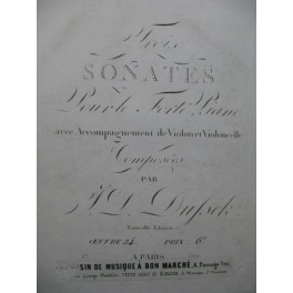 DUSSEK J. L. Sonate No 3 Piano ca1820