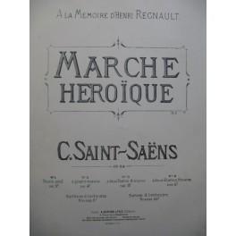 SAINT-SAËNS Camille Marche Héroïque 2 Pianos 8 mains 1880