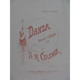 COLOMER B. M. Danza Piano XIXe siècle