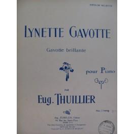 THUILLIER Eugène Lynette Gavotte Piano 1925