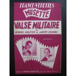 Valse Militaire Verchuren Siozade Accordéon 1951