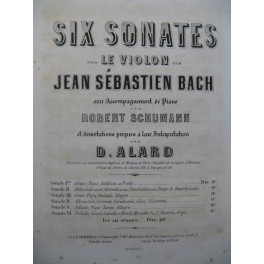 BACH J. S. Sonate No 4 Violon Piano ca1860