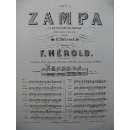 HÉROLD Ferdinand Zampa No 13 Chant Piano XIXe