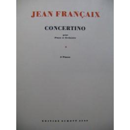 FRANÇAIX Jean Concertino 2 Pianos 4 mains