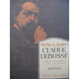 DEBUSSY Claude Musica Album Piano Chant