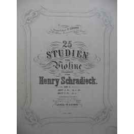SCHRADIECK Henry 25 Studien Heft 2 Violon XIXe