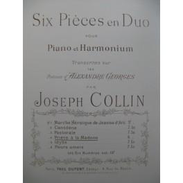 COLLIN Joseph Prière à la Madone Piano Harmonium