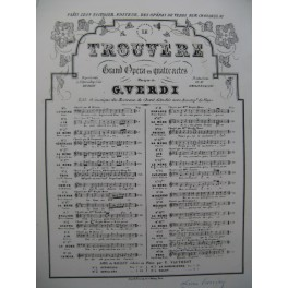 VERDI Giuseppe Le Trouvère No 13 Chant Piano ca1860