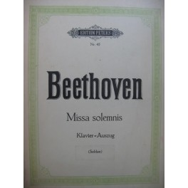 BEETHOVEN Missa Solemnis Piano Chant