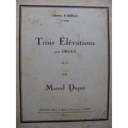 DUPRÉ Marcel Trois Esquisses Orgue 1935