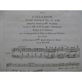 HEROLD Ferdinand L'Illusion No 8 Chant Piano ca1820