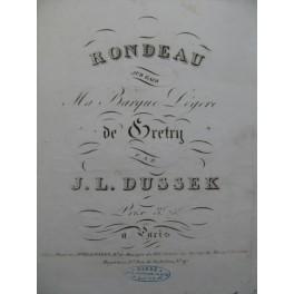 DUSSEK J. L. Rondeau Piano ca1830