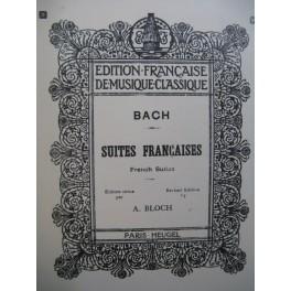 BACH J. S. Suites françaises Piano 1924