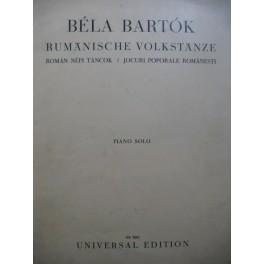 BARTOK Béla Rumänische Volkstänze Piano 6 Pièces