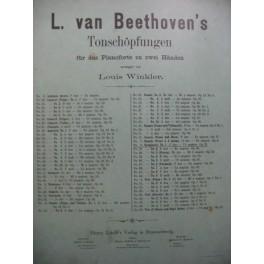 L. Van BEETHOVEN Symphonie No1 Piano XIXe siècle