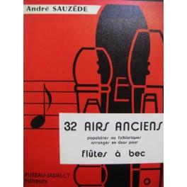 SAUZÈDE André 32 Airs Anciens Duos Flûtes à bec