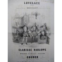 COUDER Lovelace Clarisse Harlowe Ballade Chant Guitare 1847