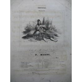 MASINI F. Devinez Chant Piano ca1830