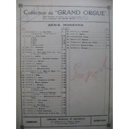 SERGENT Maurice Pastorale Dédicace Orgue 1931