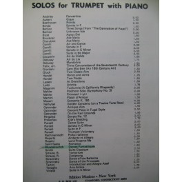 CHOSTAKOVITCH D. Danses Fantastiques Piano Trompette 1948