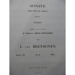 BEETHOVEN Sonate op 27 No 2 Piano 1863
