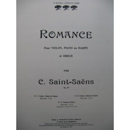 SAINT-SAËNS Camille Romance op 27 Violon Piano