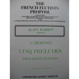 DEBUSSY Claude Cinq Préludes Piano Flûte 1983