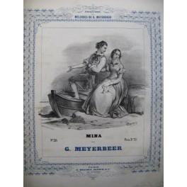 MEYERBEER G. Mina Barcarolle Piano ca1840