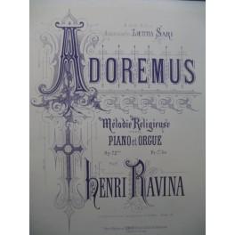 RAVINA Henri Adoremus op 72 Piano Orgue 1874