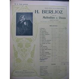 BERLIOZ Hector Sur les Lagunes Chant Piano