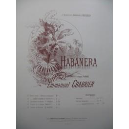 CHABRIER Emmanuel Habanera Piano Violon 1890