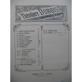 DUBOIS Théodore Chacone Piano XIXe